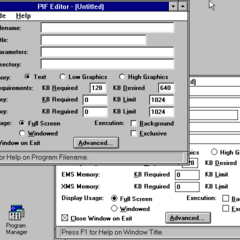 Windows 3.1 PIF Editor