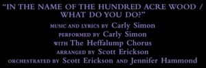 Pooh's Heffalump Movie - In the Name of the Hundred Acre Wood Credit