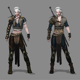 Early ideas for Ciri's alternate costume.