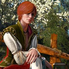 Shani waiting for Geralt/Vlodimir