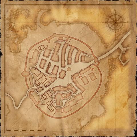 Map of Old Vizima