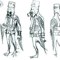 sketch Vodyan priest