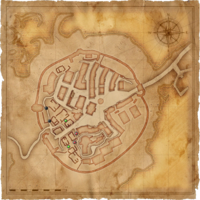 Map Old Vizima barricades