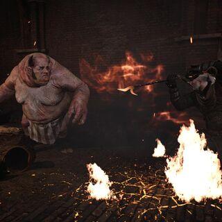 Geralt fighting Allgod