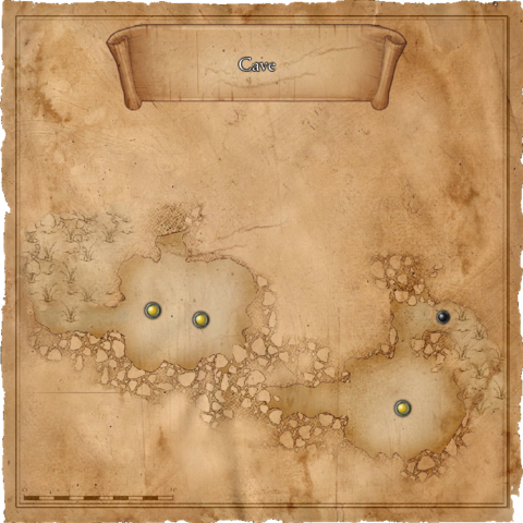 Map of the southern cave in the outskirts
