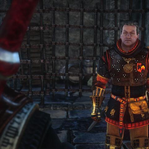 Vinson Traut wearing Seltkirk's armor