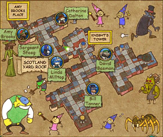 Knight's Court Map