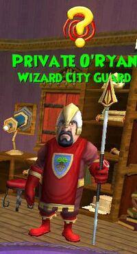 NPC WC Private O'Ryan