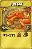 Fire Cat Treasure Card