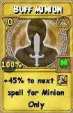 Buff Minion Treasure Card