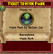 Ticket to Hyde Park