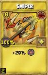 Sniper Treasure Card
