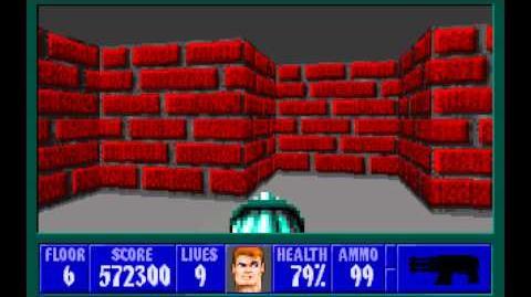 Wolfenstein 3D (id Software) (1992) Episode 1 - Escape From Castle Wolfenstein - Floor 6 HD