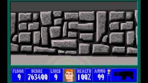 Wolfenstein 3D (id Software) (1992) Episode 1 - Escape From Castle Wolfenstein - Floor 9 HD
