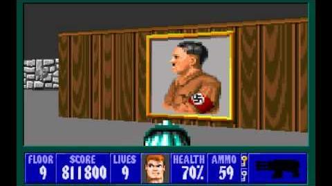 Wolfenstein 3D (id Software) (1992) Episode 4 - A Dark Secret - Floor 9 HD