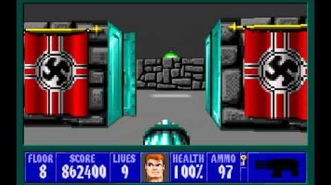 Wolfenstein 3D (id Software) (1992) Episode 5 - Trail of the Madman - Floor 8 HD