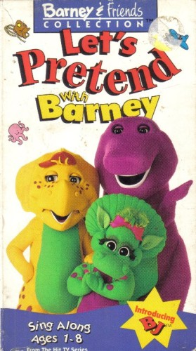 let u0026 39 s pretend with barney  vhs