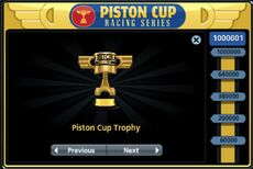 Piston Cup in The World Of Cars Online