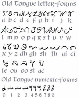 Old tongue letter forms