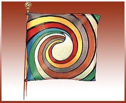 Aes Sedai flag ajah-brown