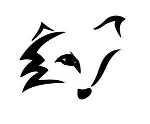 File:Stylized Fox Tribal Head.jpg