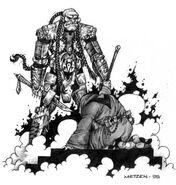 Gul'dan 'Submits' to Doomhammer