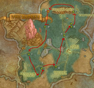 how to get to azuremyst isle from dalaran