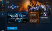 Battle.net app-Beta-Games-SC2-Install