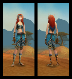BloodElf Female Loose Chain Mail Armor Set