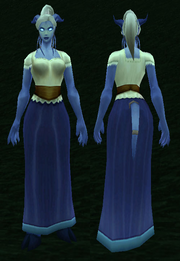 Simple Dress, Grass Background, Draenei Female