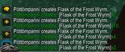 FlaskofFrostWyrm proc 5x in chat log