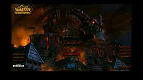 Cataclysm login screen - World of Warcraft (from BlizzCon 2010)