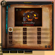 Spellbook & Abilities-Companions tab