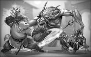 WoW RPG Pandaren vs Satyr by UdonCrew