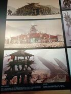 Chinese WarcraftMovie exhibition-orc bldgs