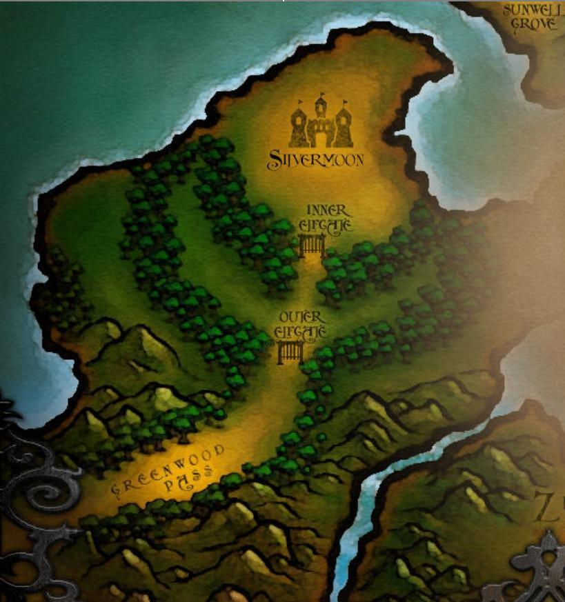 how to get to silverpine forest from silvermoon