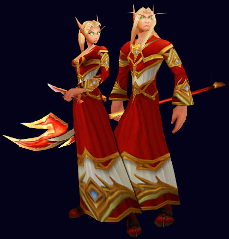 Model warcraft world elf female of blood