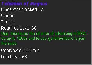 Tallisman of Magnus