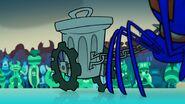 S1e10b Harvax dragging Stok's trash can