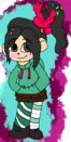 Vanellope as drawn by Aly