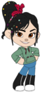 Vanellope in Jeans and Sneakers