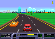 Roadblasters racers in game