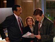 Reggie Purdue, Dana Scully and Fox Mulder