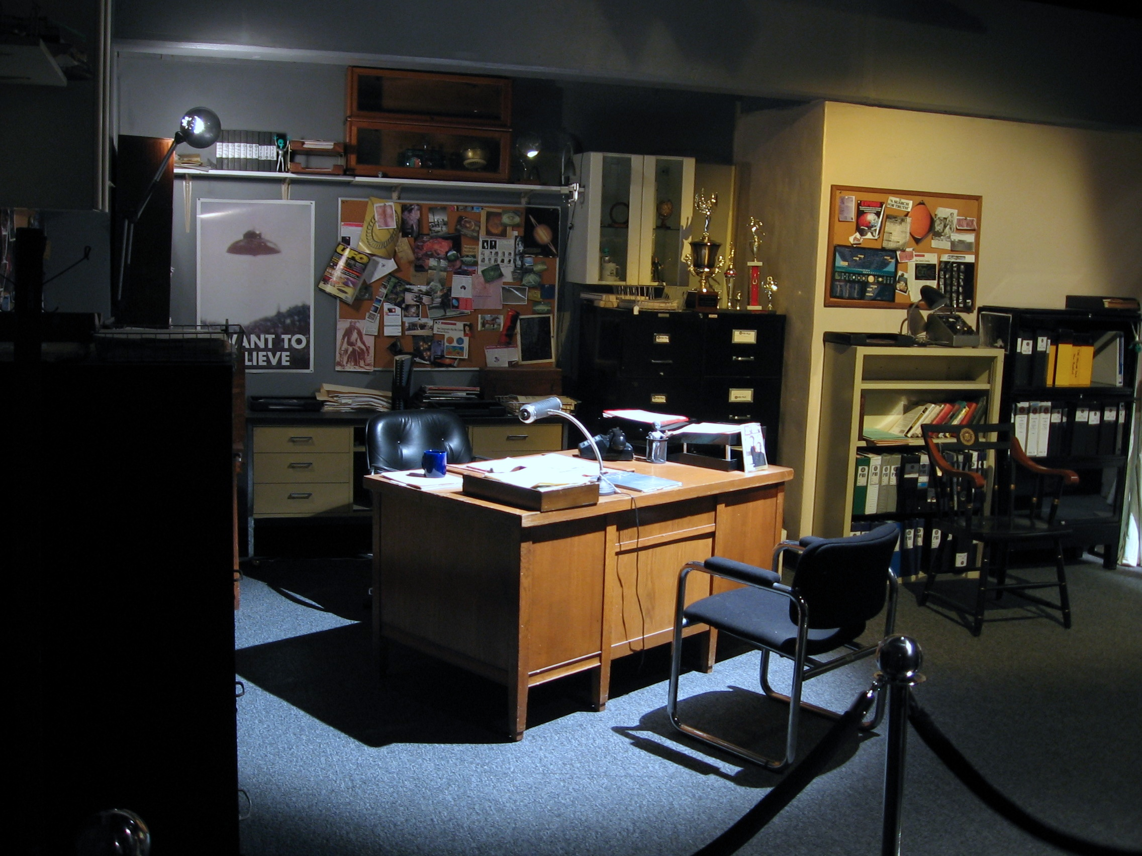 Mulder s office at the  X Files I Want To Believe Poster Mulder Office