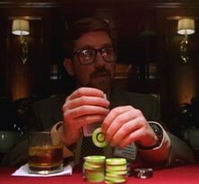 Byers plays poker