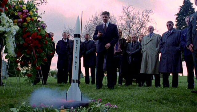 File:John Fitzgerald Byers launches rocket.jpg