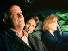 Clyde Bruckman travels with Fox Mulder and Dana Scully
