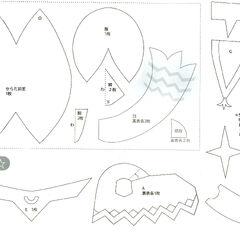 Riki plush figure pattern