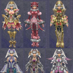 Compilation of Melia's armor