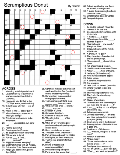 CrosswordScrumptiousDonut